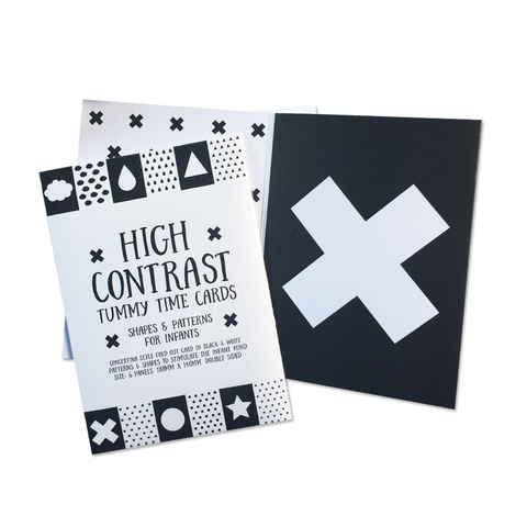 High Contrast Tummy Time Cards