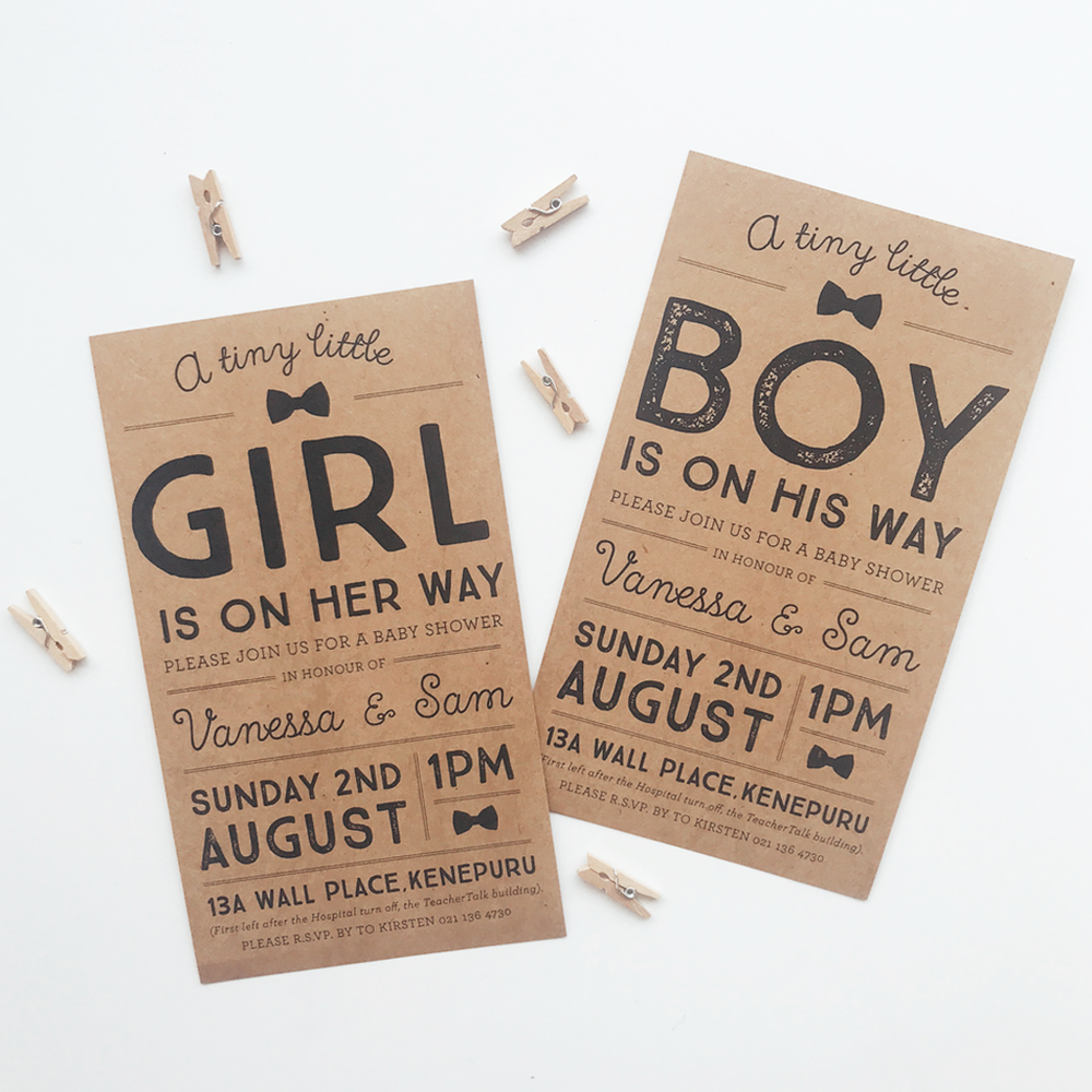 Tiny little - Baby Shower Invitation