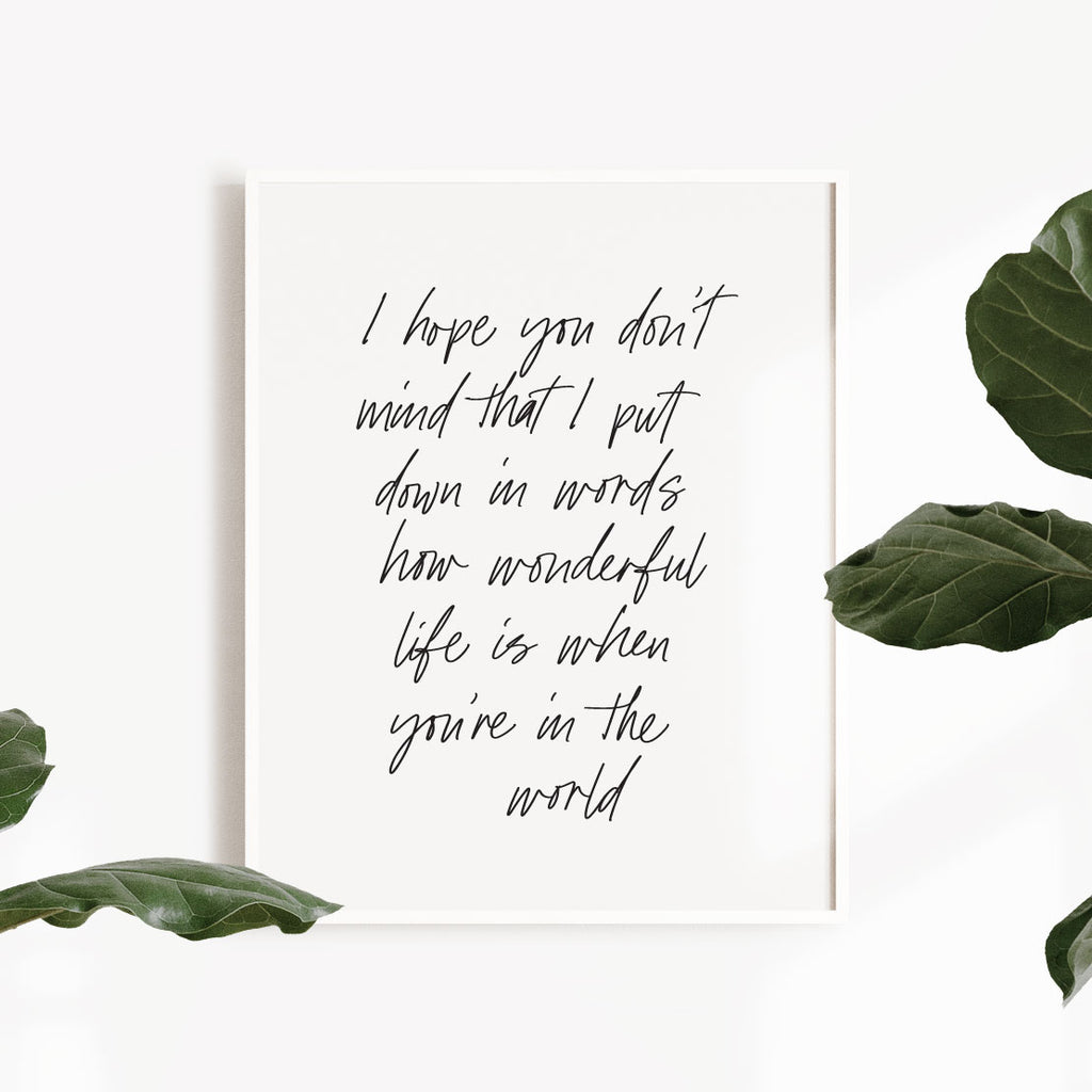 Your Song - Print