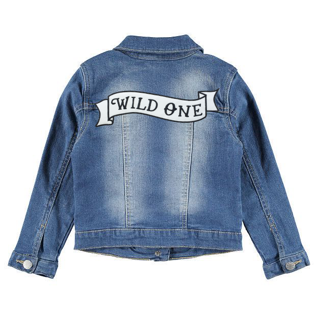 Wild One Denim Patch Jacket