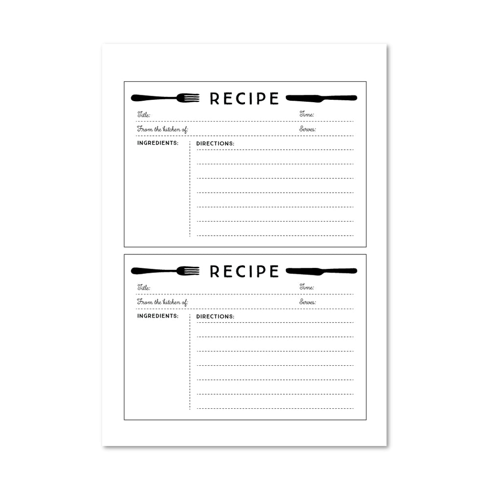 Recipe Card Download