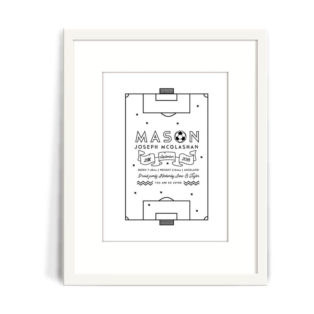 Soccer Baby Birth Print
