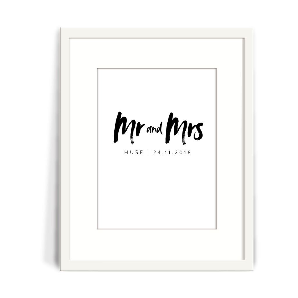 Mr & Mrs Wedding Print
