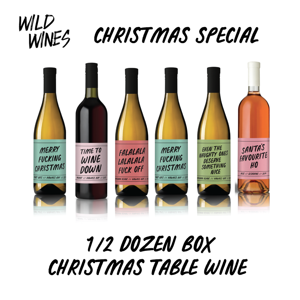 Your Christmas table wine! Half Doz