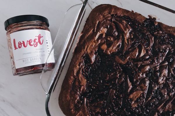 lovest jam brownie recipe