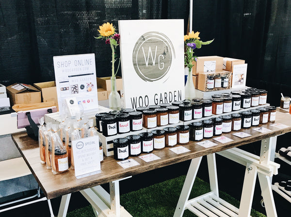 Woo garden selling artisan jams at west coast craft summer event