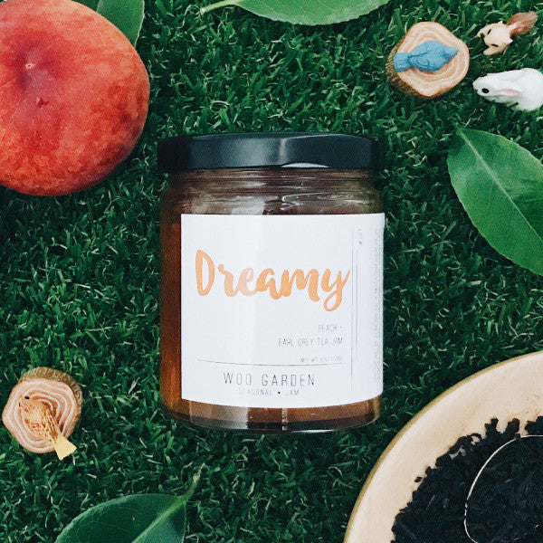 Woo garden handcrafted peach and earl grey tea jam, dreamy.