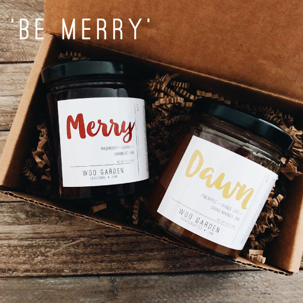 Our 'BE MERRT' DUO jam gift set contains MERRY and DAWN.