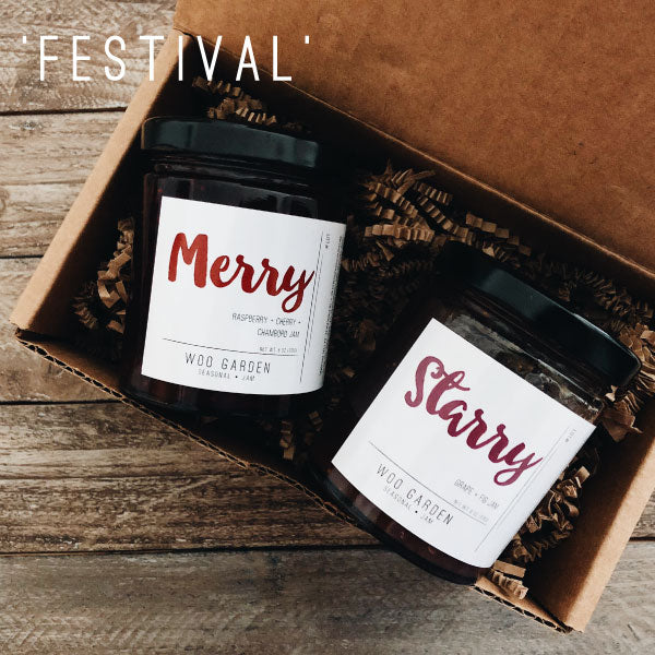Our 'FESTIVAL' DUO jam gift set contains MERRY and STARRY.