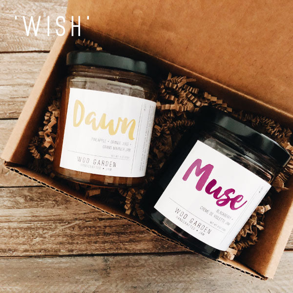 Our 'WISH' DUO jam gift set contains DAWN and MUSE.