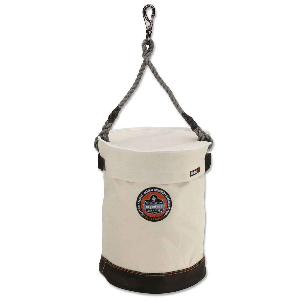 Ergodyne ARSENAL 5740T Leather-bottom swivel bucket + 5738 Lid