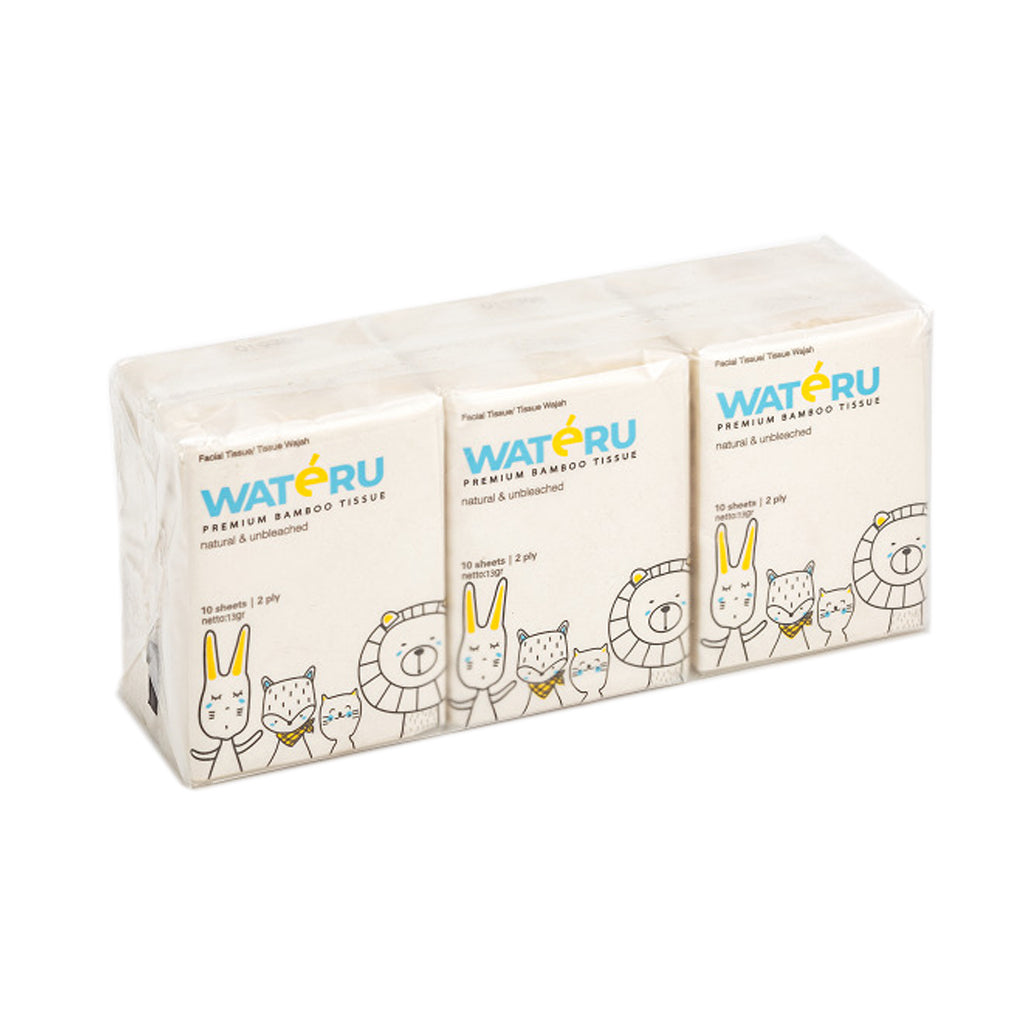 WATERU Pocket Tissue 6pcsx10s 2ply
