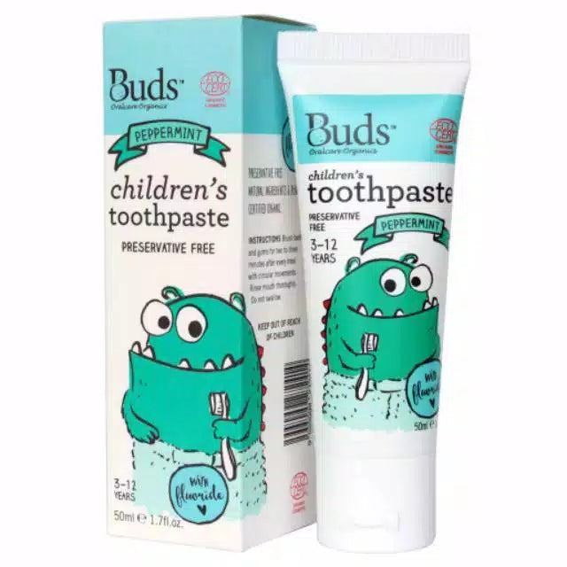 BUDS Toothpaste Peppermint With Fluoride