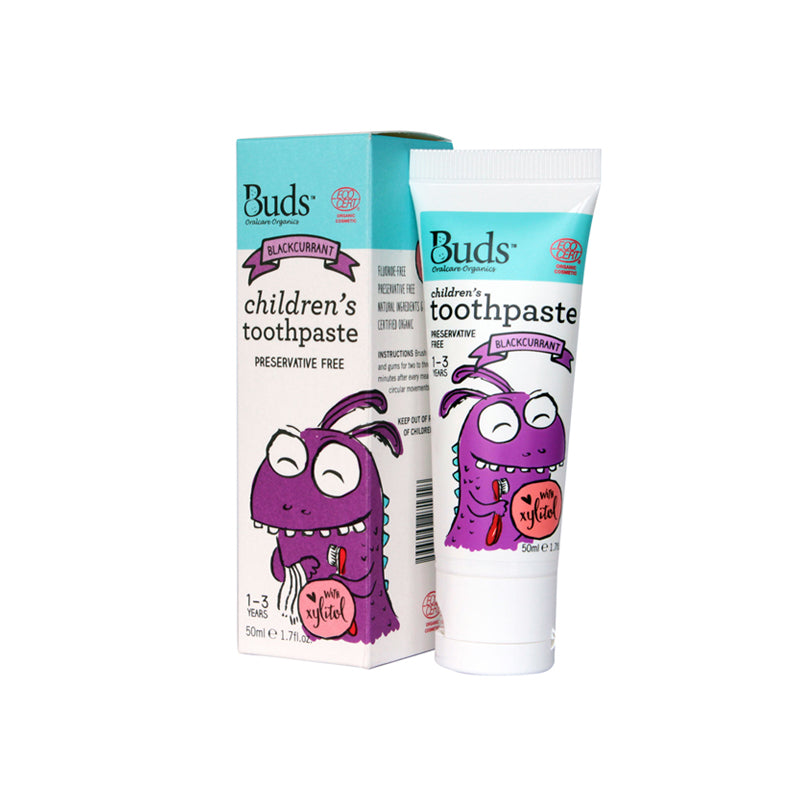 BUDS Toothpaste with Xylitol Blackcurrant