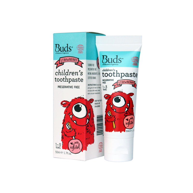 BUDS Toothpaste with Xylitol Strawberry
