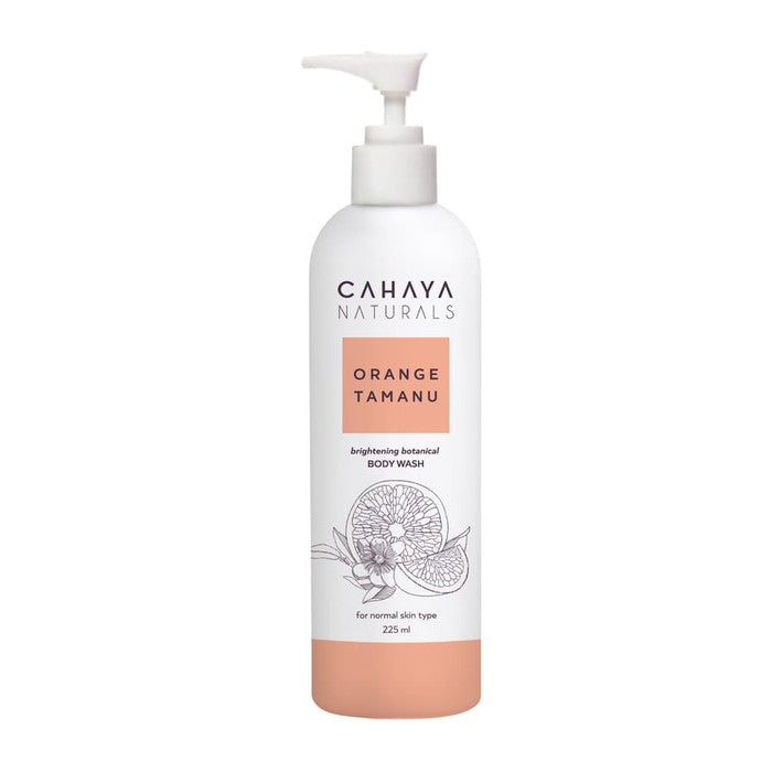 CAHAYA NATURALS Orange Tamanu Brightening Body Wash 225 ml