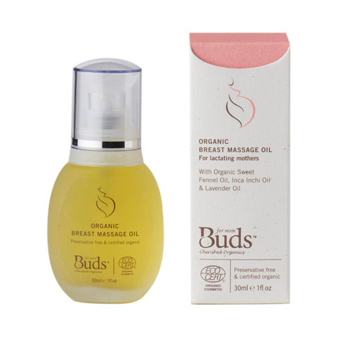 Buds Organic Breast Massage Oil 30ml