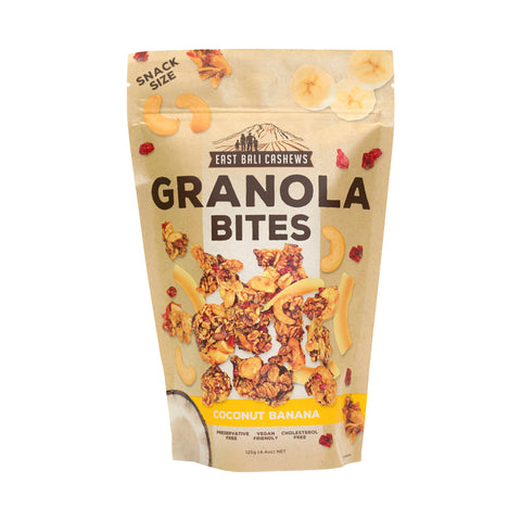 East Bali Cashews – Granola Bites Coconut Banana 125g