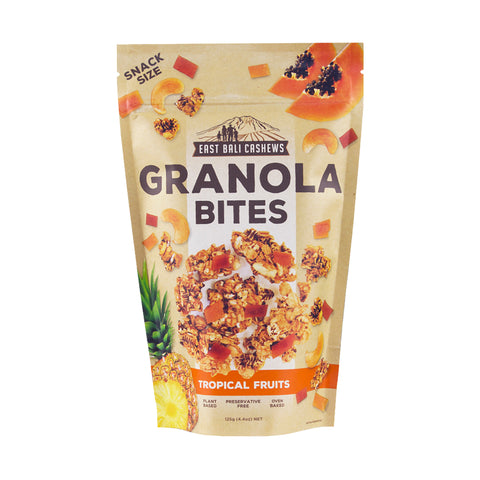 East Bali Cashews – Granola Bites Tropical Fruits 125g
