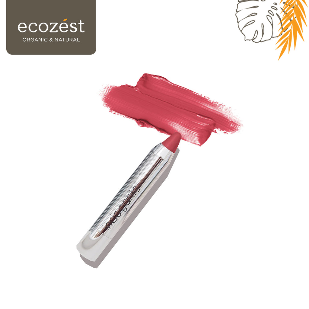 INDOGANIC Beauty Lip & Cheek Crayon Rosy Red