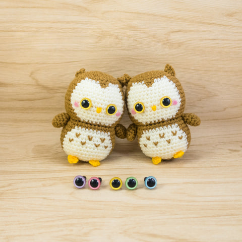 Ollie the Owl and hand-painted color safety eyes