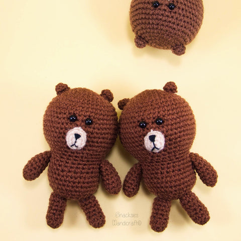 Line Brown Crochet Amigurumi Pattern Free Snacksies Handicraft