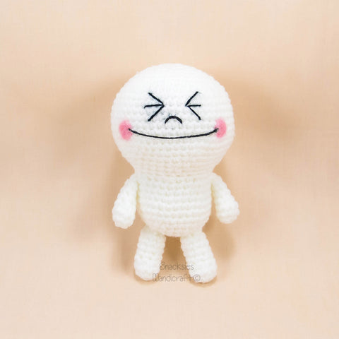 LINE Moon Amigurumi Pattern (Free) – Snacksies Handicraft
