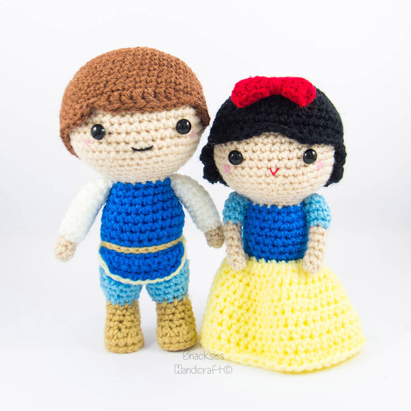 Free Crochet Pattern For Snow White Dress : Snow White and Prince Amigurumi Pattern ? Snacksies Handicraft
