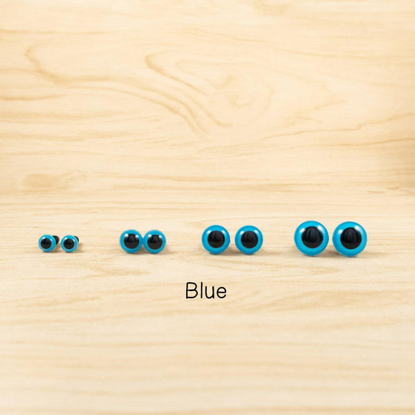 Blue Safety eyes for handmade plush - 6mm, 8mm, 10mm, 12mm