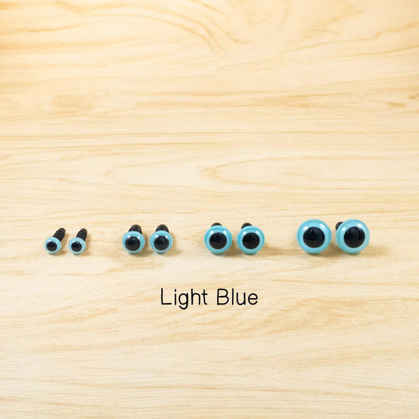 Light Blue safety eyes for handmade dolls - 6mm, 8mm, 10mm, 12mm