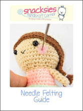Load image into Gallery viewer, Needle Felting Guide for Crochet Doll Cheeks