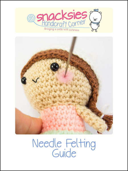 Needle Felting Guide for Crochet Doll Cheeks
