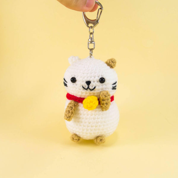 Lucky Cat Plush with Key Chain