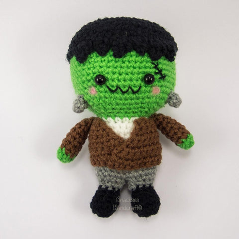 Crochet Frankenstein Amigurumi for Halloween
