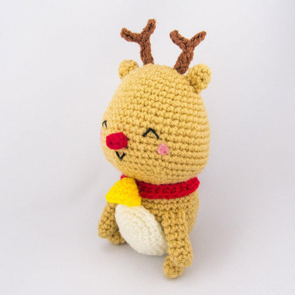 Crochet Reindeer Amigurumi Side View