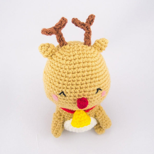 Reindeer Plush Top View
