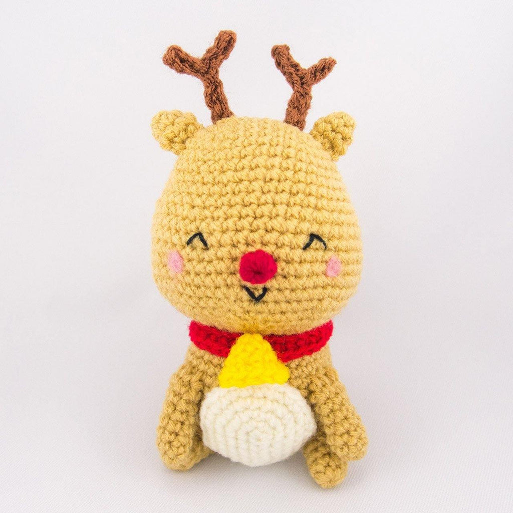 Jingle the Reindeer Crochet Toy for Christmas