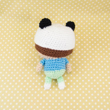 Load image into Gallery viewer, Amigurumi Doll - Boy with Panda Hat