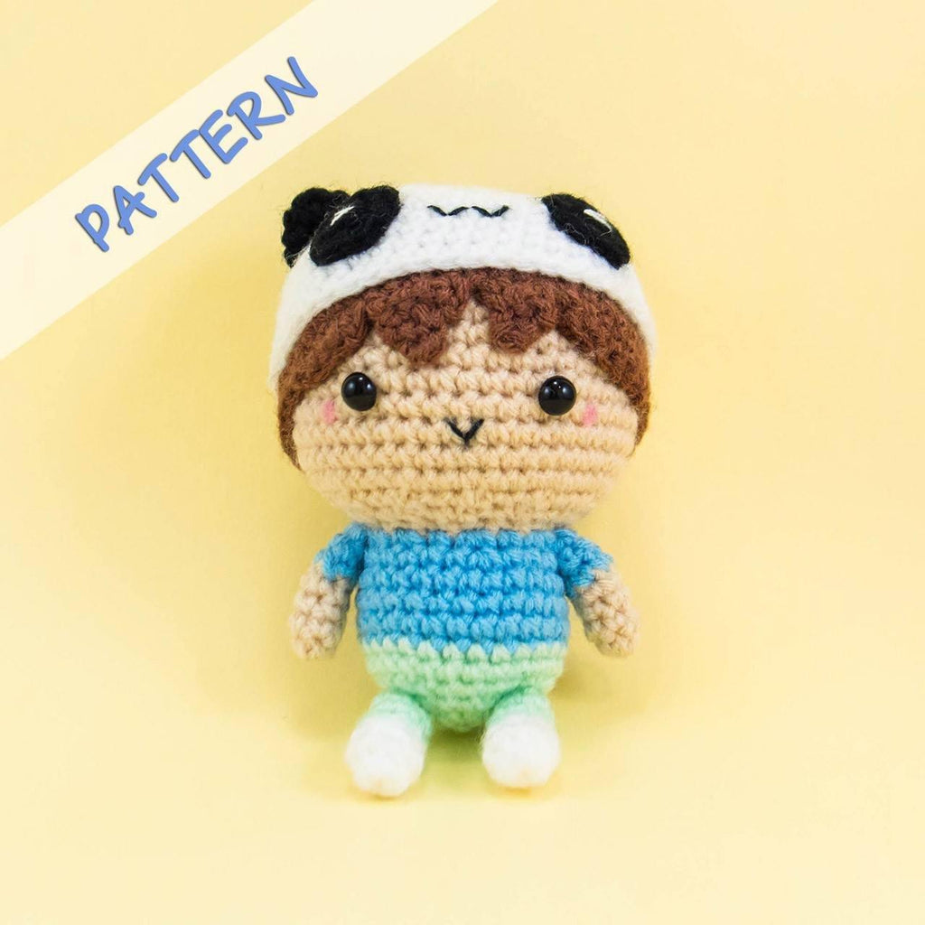 Amigurumi Boy with Panda Hat