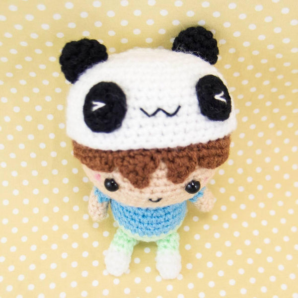 Crochet Pattern - Doll with Panda Hat