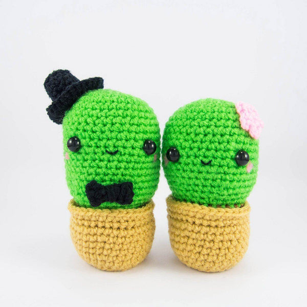 Cactus Couple Amigurumi Kit