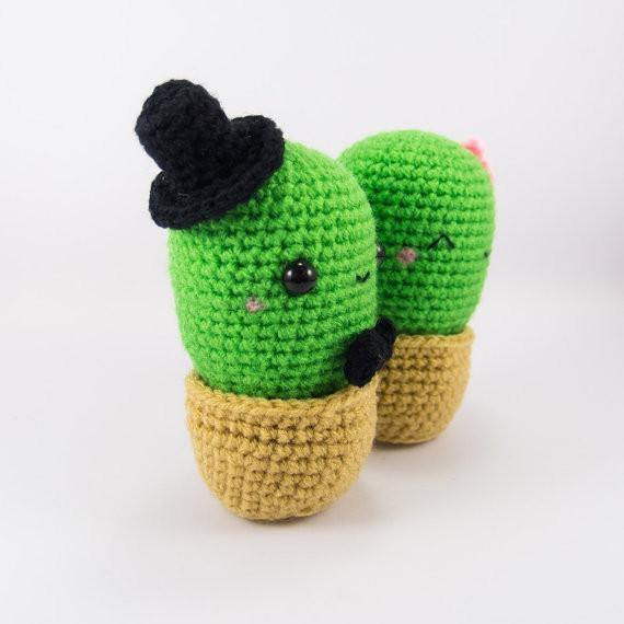 Male Cactus View of Cactus Crochet Pattern