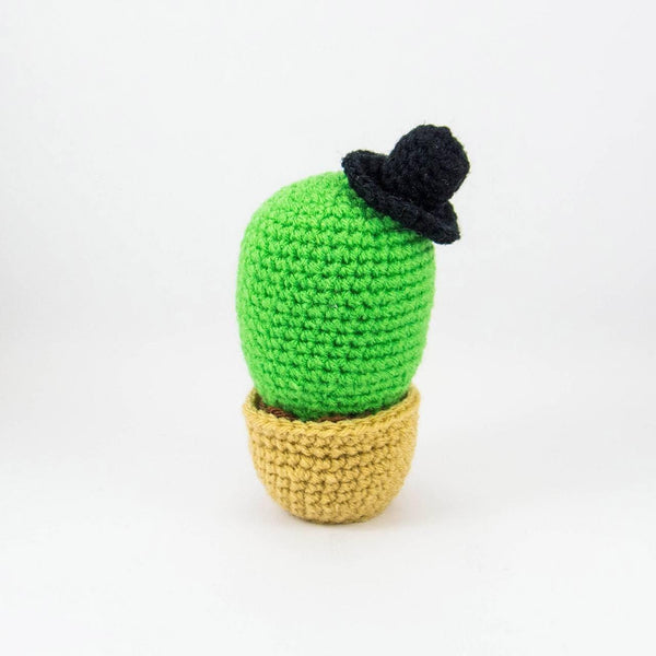 Plush Cactus Home Decor Back View