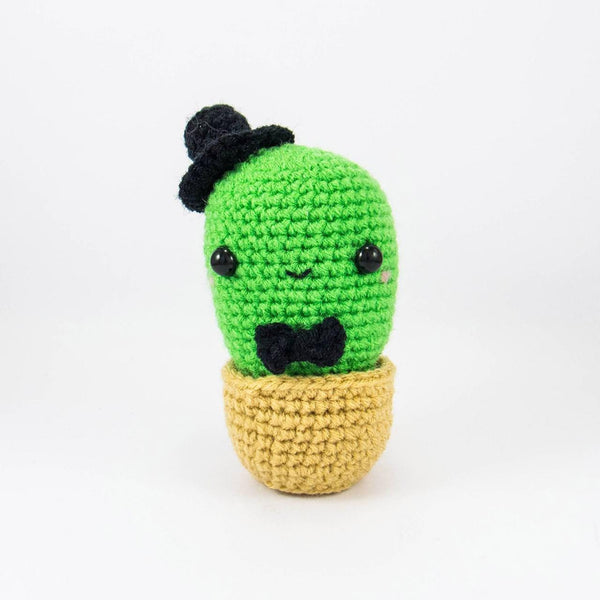 Amigurumi Cactus Crochet With Bow Tie