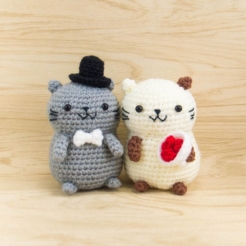 Crochet Cat Couple for wedding decor