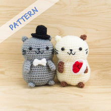 Load image into Gallery viewer, Crochet Cat Couple Amigurumi Pattern for Wedding Decor