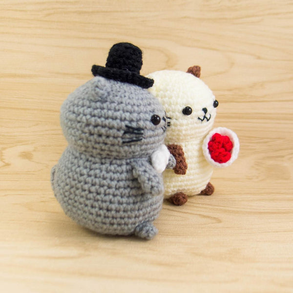 Cat Crochet Animals for Wedding Centerpiece