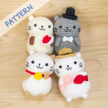 Load image into Gallery viewer, Cat Amigurumi Pattern Set