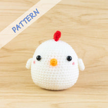 Load image into Gallery viewer, Crochet chicken amigurumi pattern