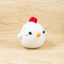 Load image into Gallery viewer, Handmade chicken doll crochet pattern
